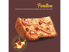 Panettone Havanna Gotas de Chocolate Recheado de Doce de Leite 700g - 3