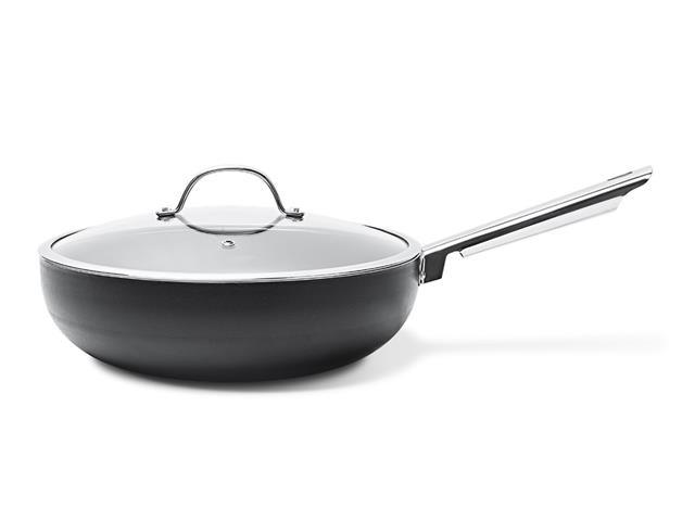 Panela Wok Brinox Curry Ø28cm com Tampa Capacidade 3,5 Litros Preto