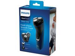 Barbeador Elétrico Philips Shaver 1100 Seco e Molhado Azul Malibu - 3