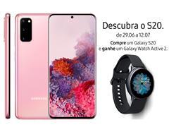 "Smartphone Samsung Galaxy S20 128GB Tela 6.2"" 8GB RAM 64+12+12MP Rosa - 0"