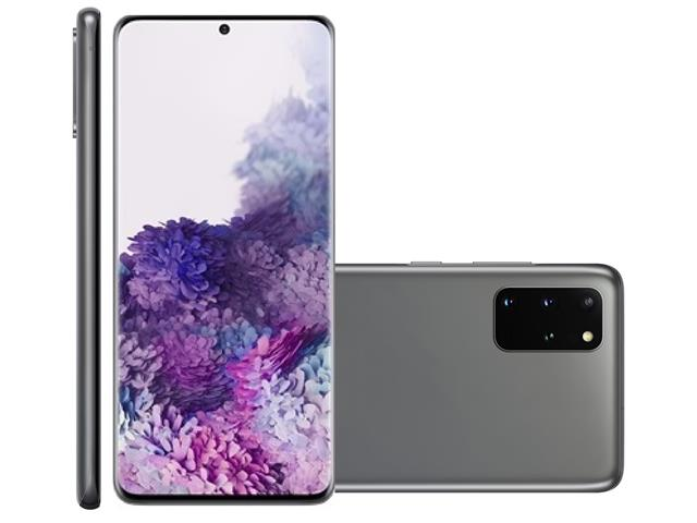 "Smartphone Samsung Galaxy S20+ 128GB 6.7"" 8GB RAM 64+12+12MP+ToF Cinza"