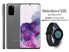 "Smartphone Samsung Galaxy S20+ 128GB 6.7"" 8GB RAM 64+12+12MP+ToF Cinza - 0"