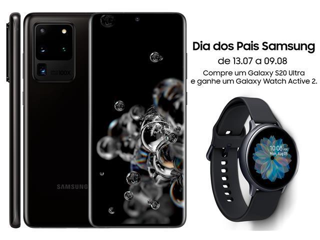 "Smartphone Samsung Galaxy S20 Ultra 512GB 6.9""16GB 108+48+12+ToF Preto"
