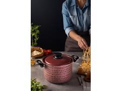 Espagueteira Tramontina My Lovely Kitchen Antiaderente Rosa 5,7 L 22CM - 2