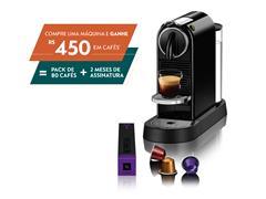 Cafeteira Nespresso Automática CitiZ D113 Kit Boas Vindas Preta