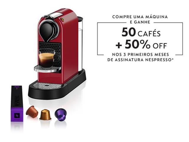 Cafeteira Nespresso Automática CitiZ C113 Vermelho Cereja