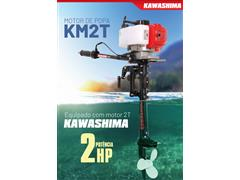 Motor de Popa Kawashima KM2T com Motor 2HP à Gasolina