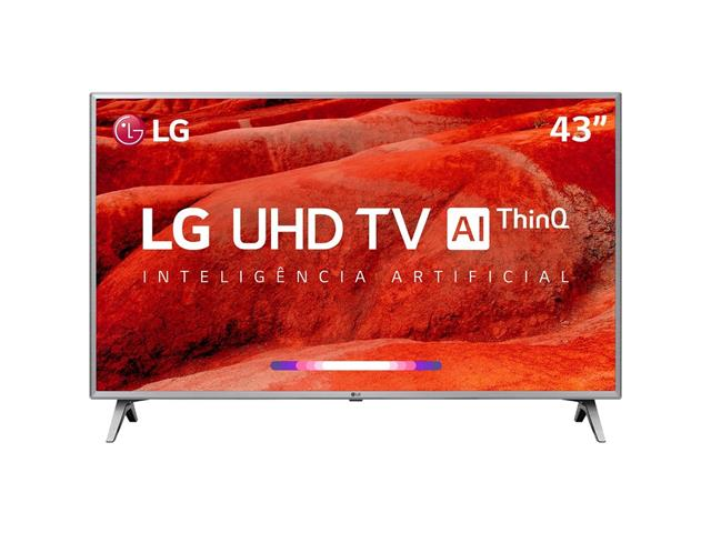 "Smart TV LED 43"" LG UHD 4K ThinQ AI TV HDR WebOS 4.5 Wi-Fi 4HDMI 2USB"