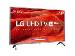 "Smart TV LED 43"" LG UHD 4K ThinQ AI TV HDR WebOS 4.5 Wi-Fi 4HDMI 2USB - 2"