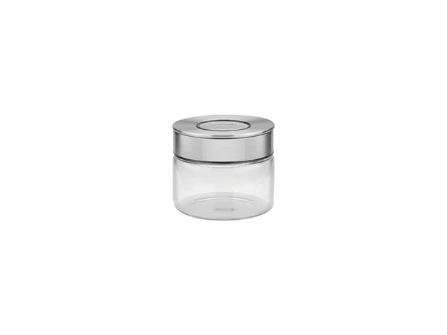 Pote de Vidro Tramontina Purezza com Tampa de Aço Inox 10 cm 400ML