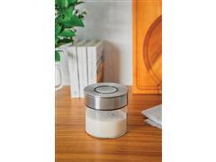 Pote de Vidro Tramontina Purezza com Tampa de Aço Inox 10 cm 400ML - 6