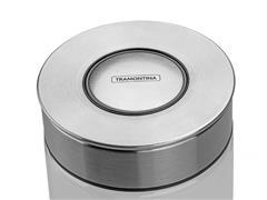 Pote de Vidro Tramontina Purezza com Tampa de Aço Inox 10 cm 400ML - 1
