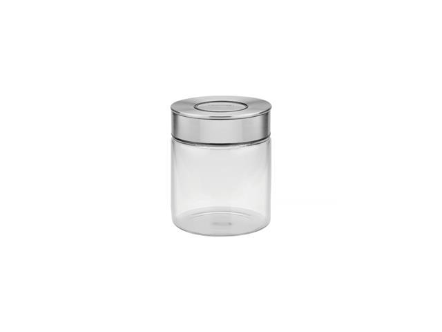 Pote de Vidro Tramontina Purezza com Tampa de Aço Inox 10 cm 700ML