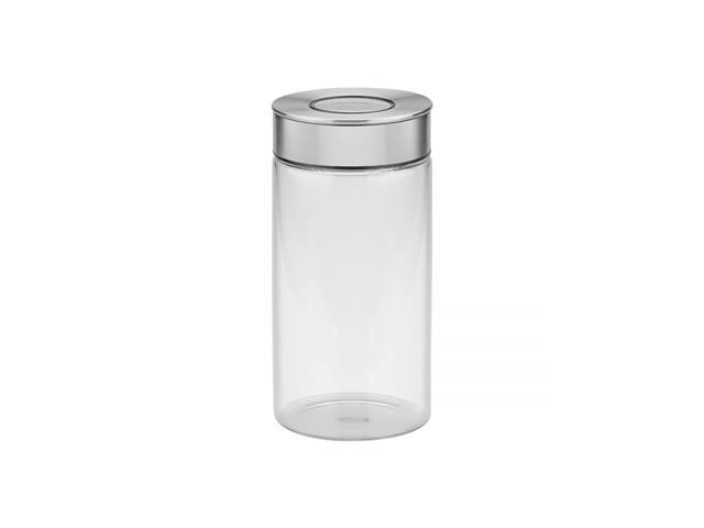 Pote de Vidro Tramontina Purezza com Tampa de Aço Inox 10cm 1,4 Litros