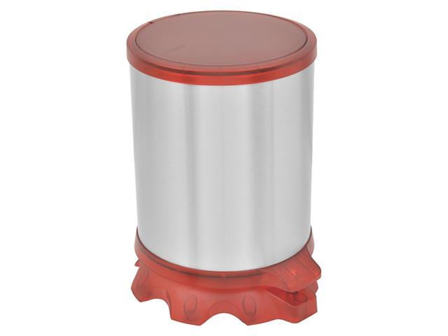 Lixeira Inox Tramontina Sofie Red com Pedal 5 Litros