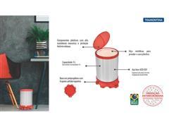 Lixeira Inox Tramontina Sofie Red com Pedal 5 Litros - 4