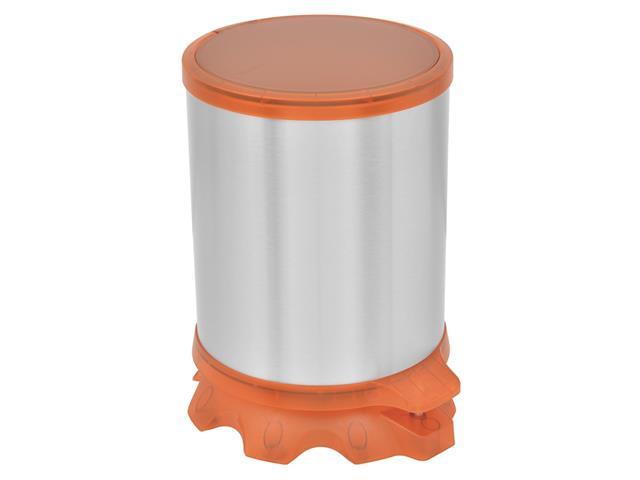 Lixeira Inox Tramontina Sofie Orange com Pedal 5 Litros