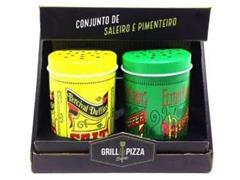 Conjunto Prana Saleiro e Pimenteiro Old Fashioned 2 Peças - 2