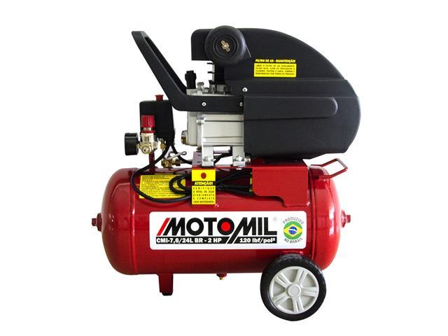 Compressor de Ar Motomil CMI-7.6/24BR 120LBS 2HP Monofásico
