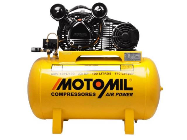 Compressor de Ar Motomil CMV-10PL/100 Air Power 2CV Monofásico Bivolt