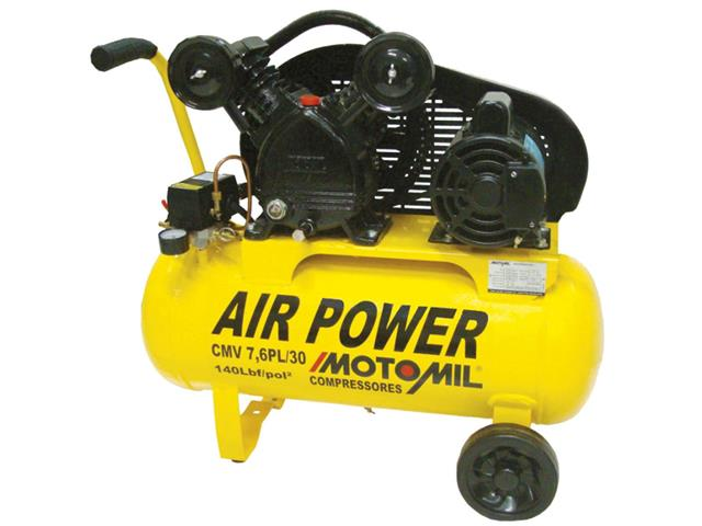 Compressor de Ar Motomil CMV-7,6PL/30 140LBS Monofásico Bivolt