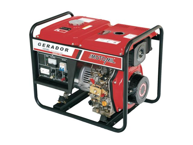 Gerador de Energia Bivolt Motomil MDG-5000CLE 5000W à Diesel