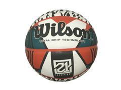 Bola de Basquete Wilson 21 Series Branco e Verde Tamanho 7
