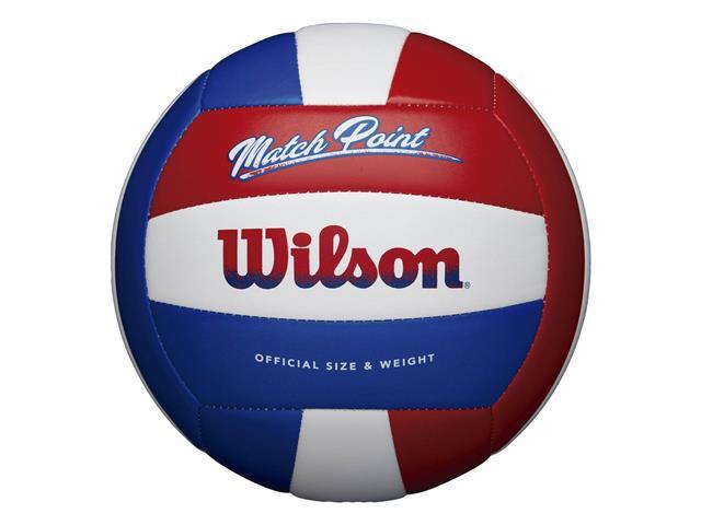 Bola de Vôlei Wilson Match Point Branco com Vermelho e Azul