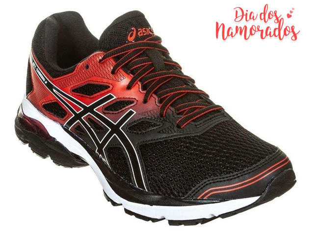 Tênis Asics Gel-Shogun 2 Black/Classic Red Masculino