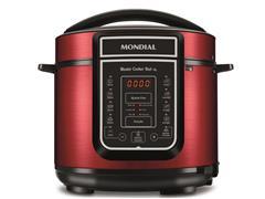 Panela de Pressão Elétrica Digital Mondial Master Cooker Red 5L 220V