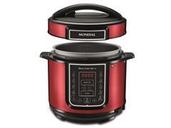 Panela de Pressão Elétrica Digital Mondial Master Cooker Red 5L 220V - 1