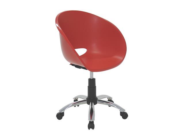 Cadeira Tramontina Elena Polipropileno e Rodízio em Aço Vermelha