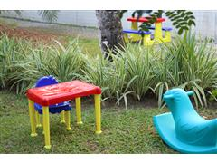 Conjunto Mesa e Cadeira Infantil Tramontina Monster Amarelo - 1