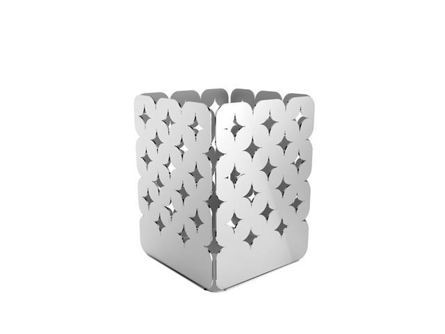 Organizador Tramontina Luce em Aço Inox Desenhos Vazados 7x7 cm