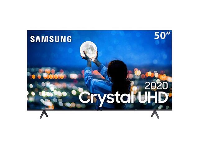 "Smart TV LED 50"" Samsung Tizen Crystal UHD 4K HDR10+ 2 HDMI 1USB Wi-Fi"