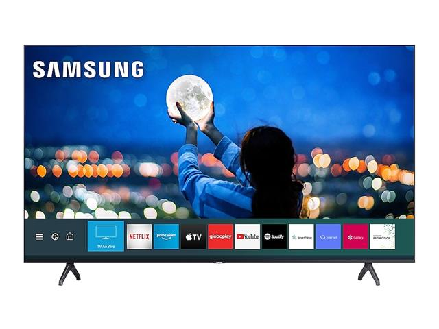 "Smart TV LED 55"" Samsung Tizen Crystal UHD 4K HDR10+ 2 HDMI 1USB Wi-Fi"