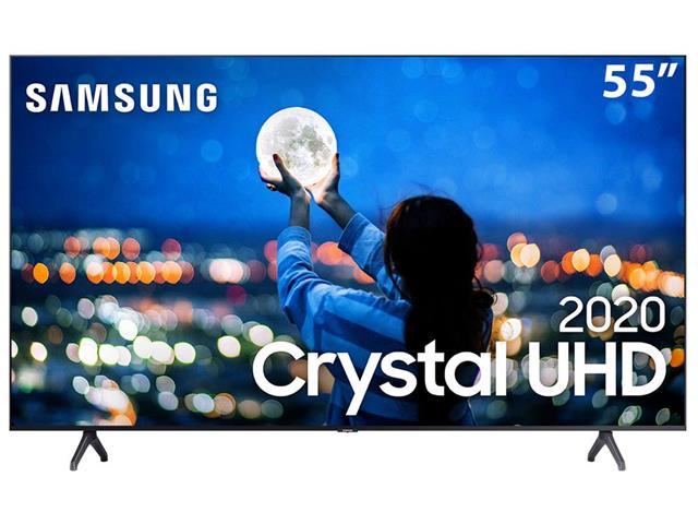 "Smart TV LED 55"" Samsung Tizen Crystal UHD 4K HDR10+ 2 HDMI 1USB Wi-Fi"