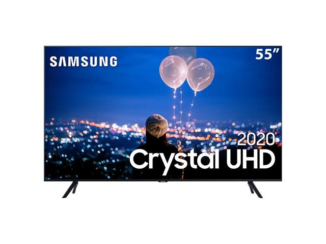 "Smart TV LED 55"" Samsung Tizen Crystal UHD 4K HDR PREMIUM 3HDMI Wi-Fi"