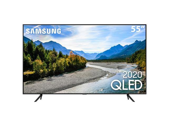 "Smart TV QLED 55"" Samsung Pontos Quânticos UHD 4K HDR 3HDMI Wi-Fi Q60T"