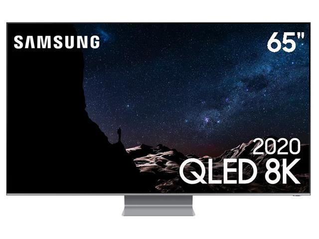"Smart TV QLED 65"" Samsung Pontos Quânticos 8K IA HDR3000 4HDMI Q800T"