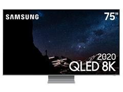 "Smart TV QLED 75"" Samsung Pontos Quânticos 8K IA HDR3000 4HDMI Q800T - 0"