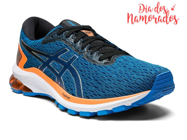 Tênis Asics Gt-1000 9 Electric Blue/Black Masculino