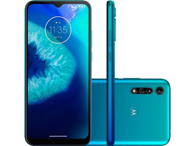 "Smartphone Motorola Moto G8 Power Lite 64GB 6.5"" 4G Câm 16+2+2MP Aqua"