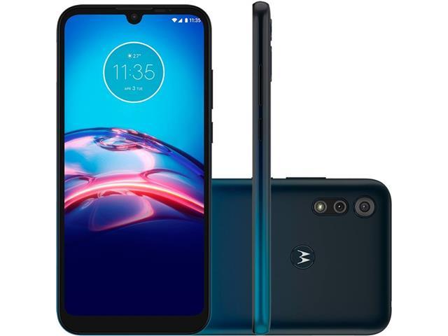 """Smartphone Motorola Moto E6S 32GB Duos Tela 6.1"""" 4G Câm 13+2MP Navy"""