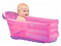 Banheira Infantil Inflável Multikids Baby Bath Buddy Rosa - 1
