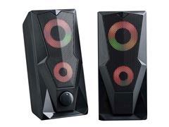 Caixa de Som Gamer Multilaser P2+USB Stereo 2.0 LED RGB 15W - 1