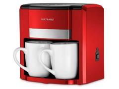 Cafeteira Elétrica Multilaser 2 Xícaras Vermelha 500W