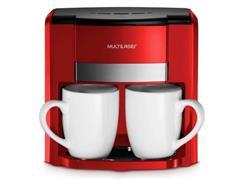 Cafeteira Elétrica Multilaser 2 Xícaras Vermelha 500W - 1