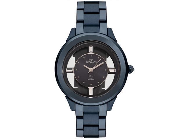 Relógio Technos Feminino Elegance Crystal Azul F03101AD/4A