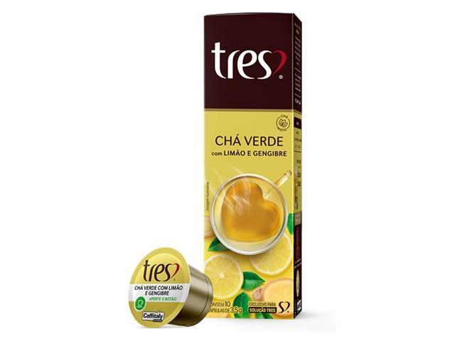 Cápsulas Três Corações Chá Verde com Limão e Gengibre